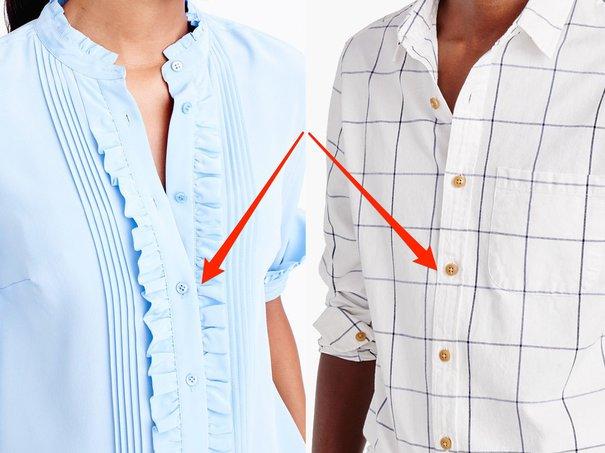 Motivul pentru care cămăşile de bărbați au nasturi pe dreapta